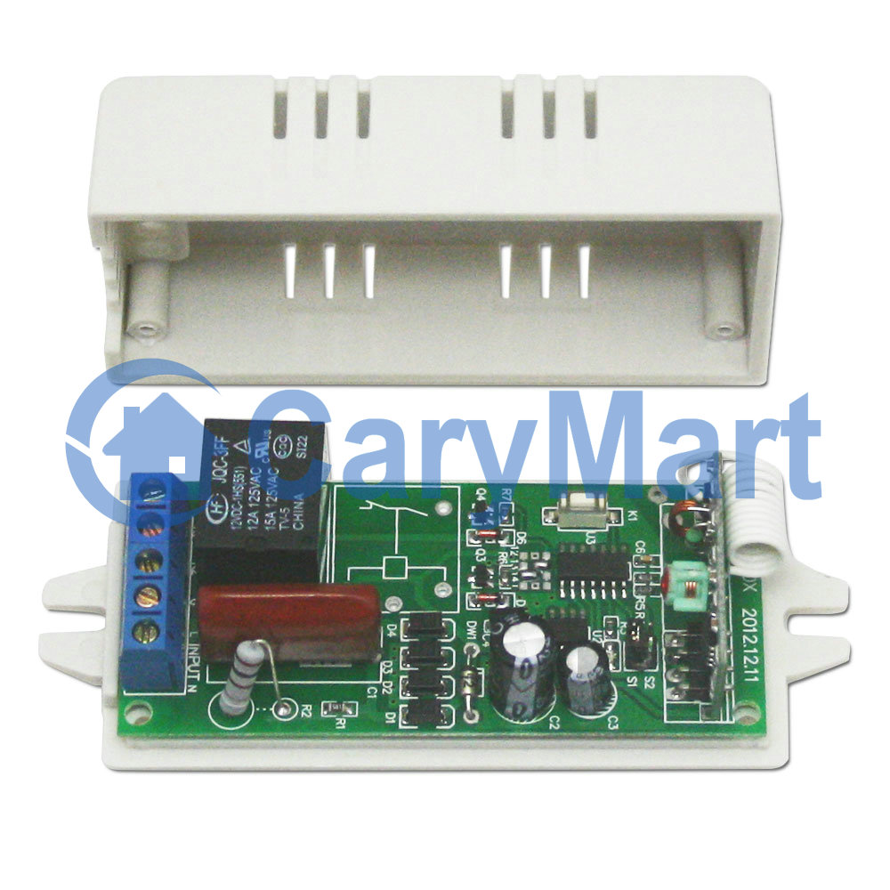 1 Relay Wireless Remote Control Receiver Circuit Latching Feature Latch Add Transmitter Cb 2 1000m