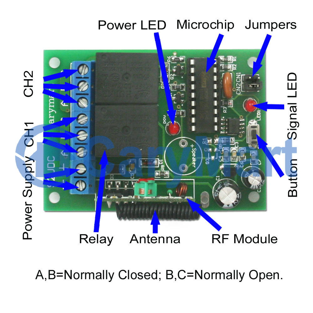 Long Range Remote Control Circuit Diagram Schematic Diagrams With Wireless 2 Channel Dc Radio Frequency Toggle On Off Switch Breaker