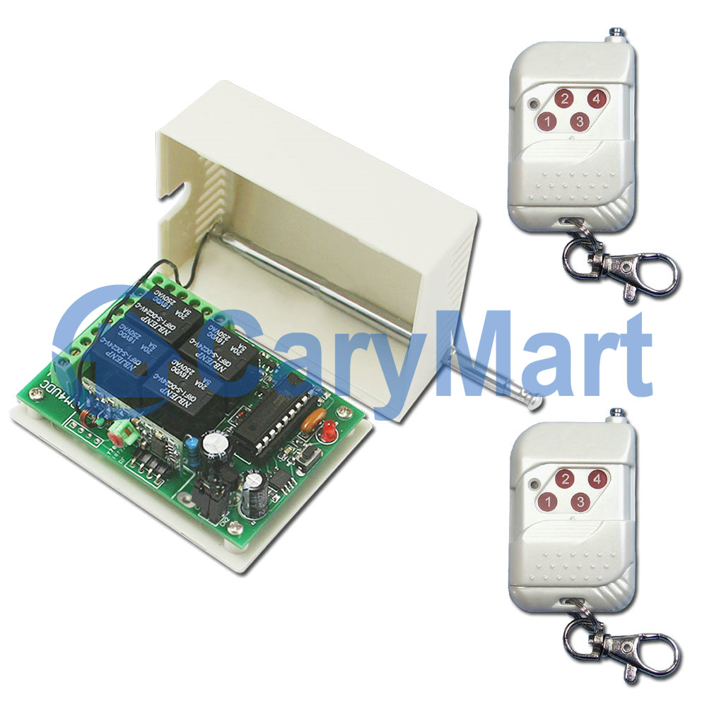 4ch Wireless Remote Control System Rf Transmitter Receiver 4 The Equipment Has Two Modes Latched Manual