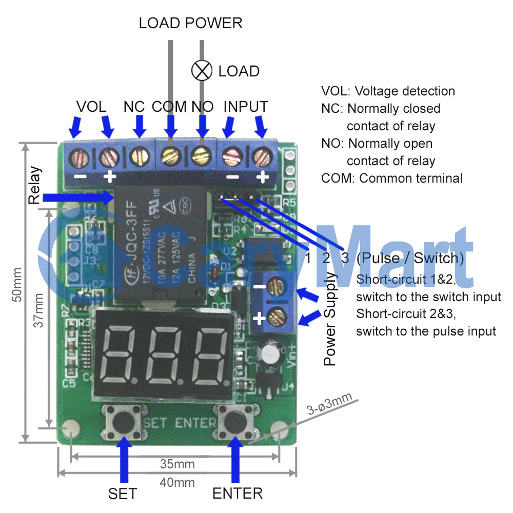 Multi Functional Voltage Detection Relay Controller With Time Timing Circuit Please Choose